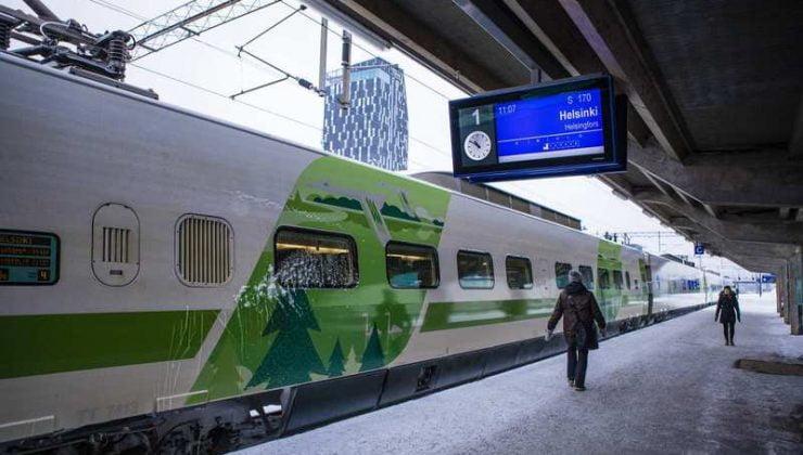 Finlandiya'da trenlerde maske ve el dezenfektanı satılacak