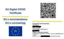 AB onaylı aşı sertifikası Finlandiya'da kullanıma sunuldu