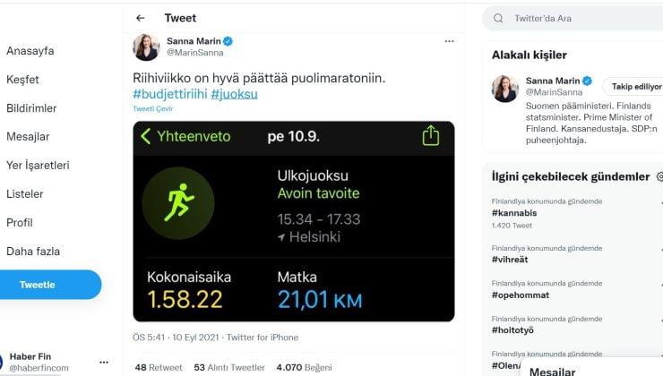 Başbakan Sanna Marin yarı maraton koştu