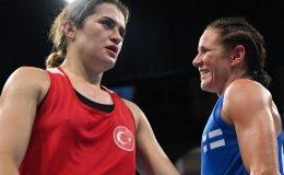Fin boksör Mira Potkenen, Esra Yıldız'ı yenerek madalyayı garantiledi