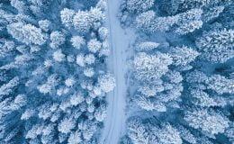 Finlandiya'da sezonun en soğuk günü bu sabah İnari'de yaşandı