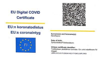 Ulusal korona pasaportu kullanıma sunuluyor